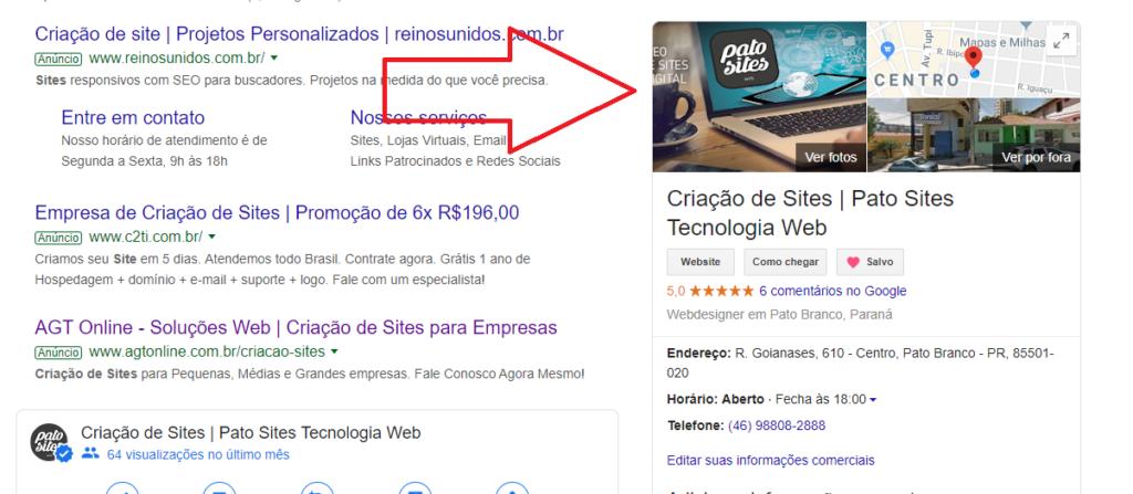 a importancia do google meu negocio